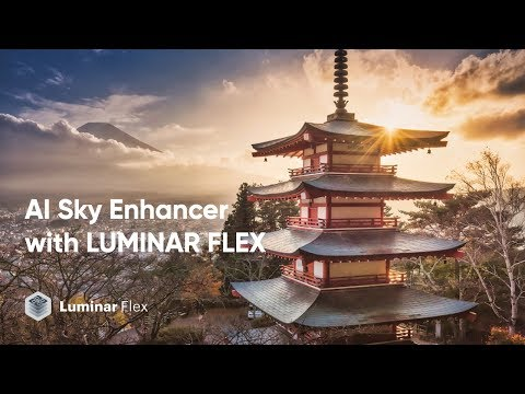 AI Sky Enhancer Filter with Luminar Flex