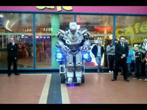 Titan the Robot  at The Red dragon Centre, Cardiff Bay, halloween special 31/10/10