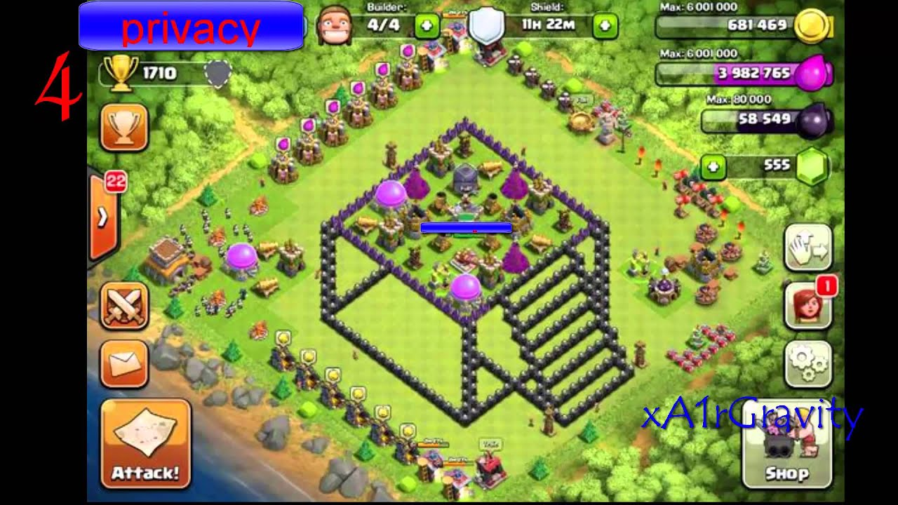 clash of clans 10 cool 3d base layouts