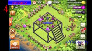 Clash of Clans -- 10 cool 3d base layouts