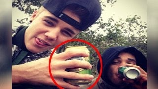 Justin Bieber Caught Drinking Beer
