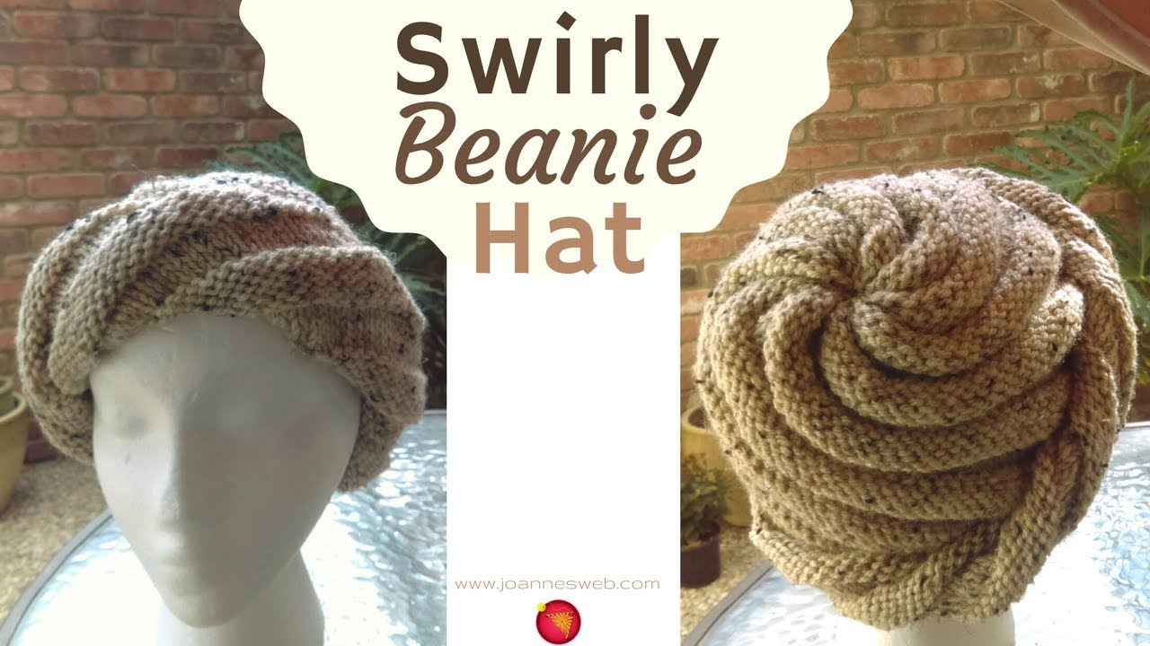 Swirly Beanie Hat - Spiral Knit Hat Pattern - Swirl Knitted Cap Hat ... adf222e586a4