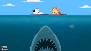 Sharks are approaching Lois and Brian!