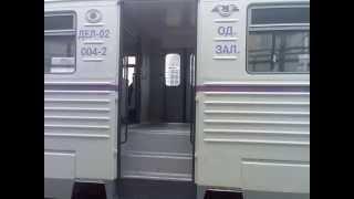 Ukrainian Railways. Vinnytsia Station. New Regional Diesel Train DEL-02-004