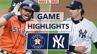 Houston Astros vs. New York Yankees Highlights | May 6, 2021 (McCullers Jr. vs. Cole)