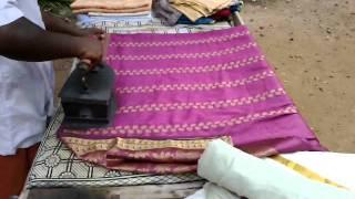 how to iron a saree