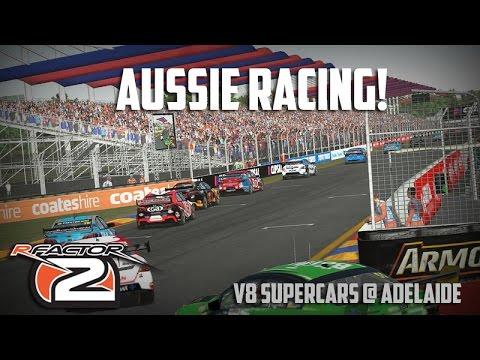 [rFactor2] V8 SUPERCARS! Holden Commodore @ Adelaide [Gameplay]