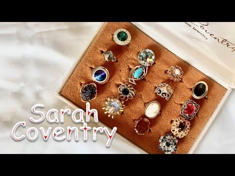 Коллекция винтажных колец Sarah Coventry Бижутерия из США Распаковка посылок EBAY
