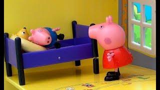 Peppa Pig français. Peppa Pig raconte un conte de fées à son frère George. Peppa met George au lit thumbnail