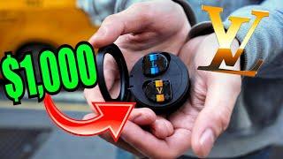 $1,000 LOUIS VUITTON AIR POD EARPHONES vs AIRPOD Review