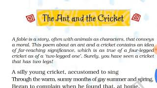 Скачать Class 8th The Ant The Cricket Poem With QUESTIONS ANSWERS Full Explaination