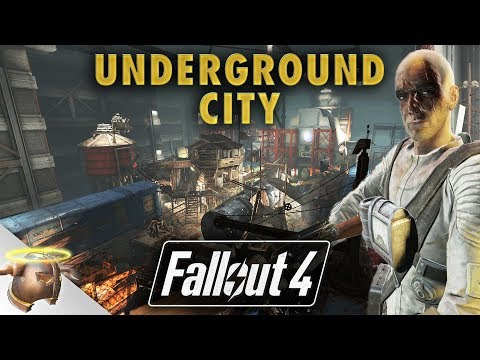 UNDERGROUND BROTHERHOOD CITY AT VAULT 88 - Huge, realistic Fallout 4 custom settlement!