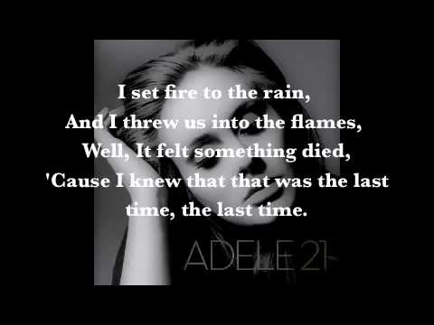 adele  set fire to the rain con letra