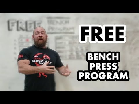 Free Bench Press Program! High Frequency 5-Week DUP for Explosive Short Term Strength Gains!