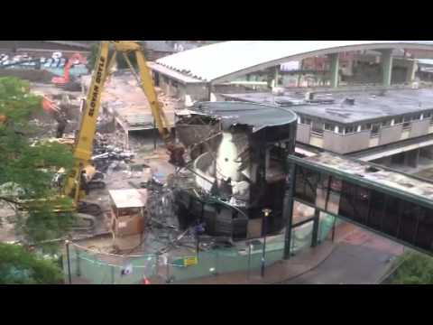 Demolition of the rotunda Blackburn