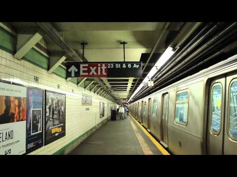 IND Subway: Queens Bound R160 (E) Train [via 6th Ave] at W. 23rd St.