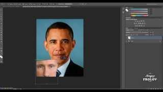 Как поменять лицо в Фотошопе CS6 , CS5 ?(Как заменить, поменять лицо в Фотошопе CS5, CS6 - вы узнаете в этом видео уроке! Приятного просмотра!, 2014-08-08T12:43:50.000Z)