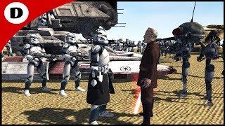 COMMANDER WOLFFE BATTLES COUNT DOOKU! ~ Men of War: Star Wars Mod