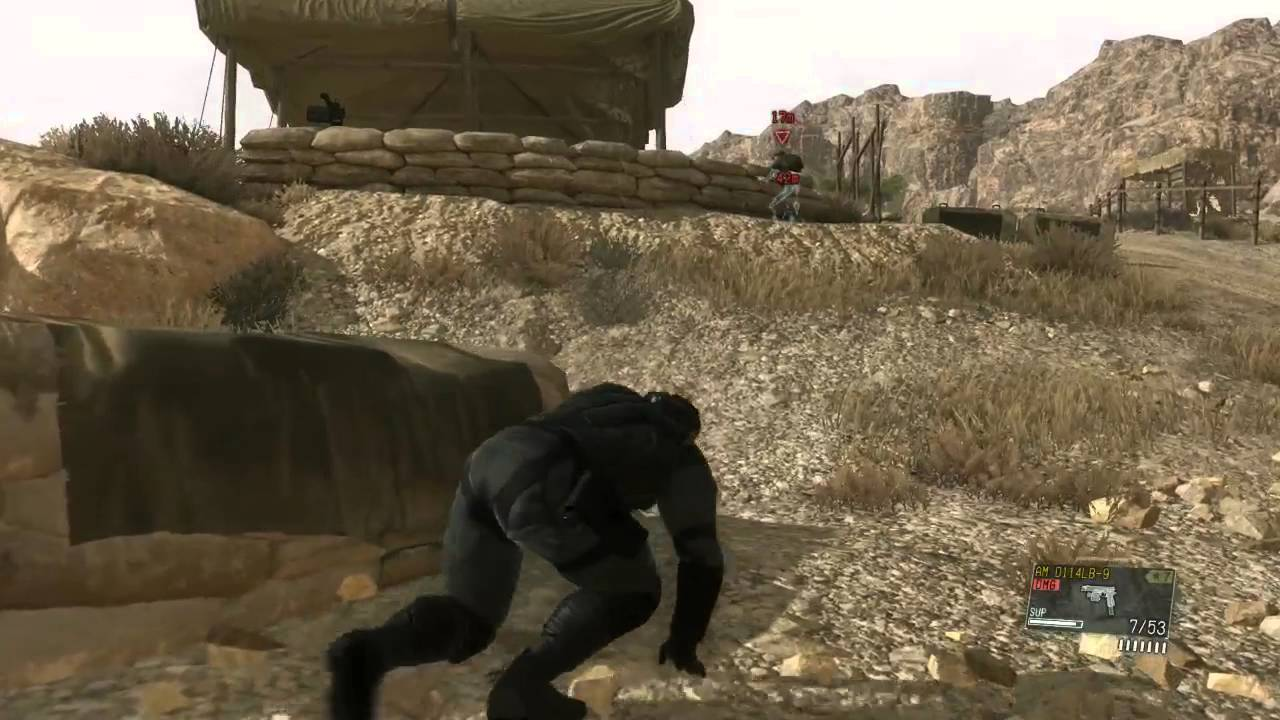 MGS5 TPP Mod Progress - Solid Snake Mod Test 2 (Face remodeled)