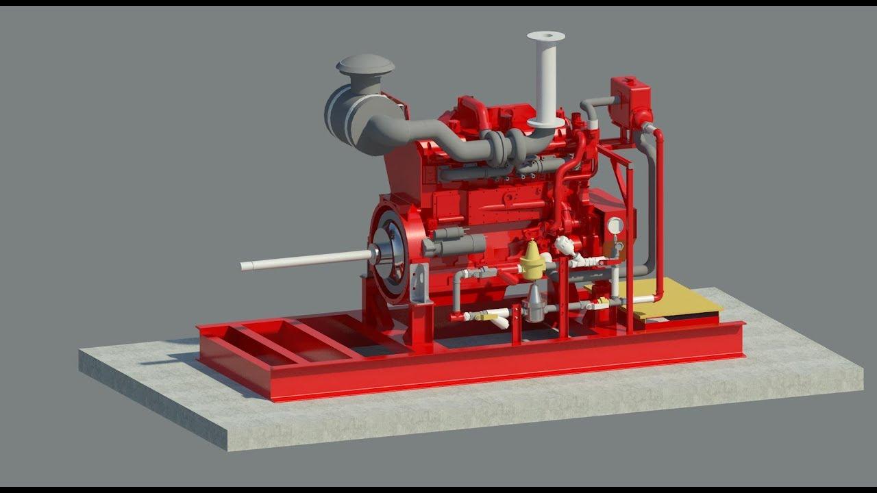 Revit Family - Diesel Engine