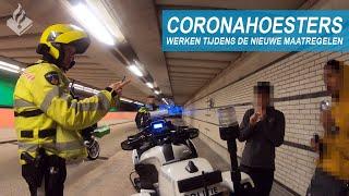 CORONAHOESTERS | Politie aan het werk tijdens de nieuwe maatregelen | JanWillem & Dennis
