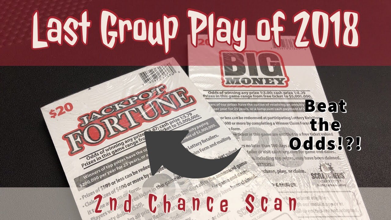 Last Group Play of 2018 - Jackpot Money - 2nd Chance