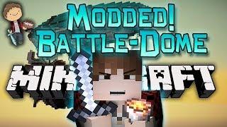 Minecraft: Modded BATTLE-DOME Part 2 w/Mitch - Airship Archimedes Mod! (Airplanes Mod)