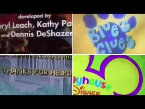 Barney, Blue's Clues, Elmo's World, Hoobs, Little Einsteins, Madeline Credits Remix
