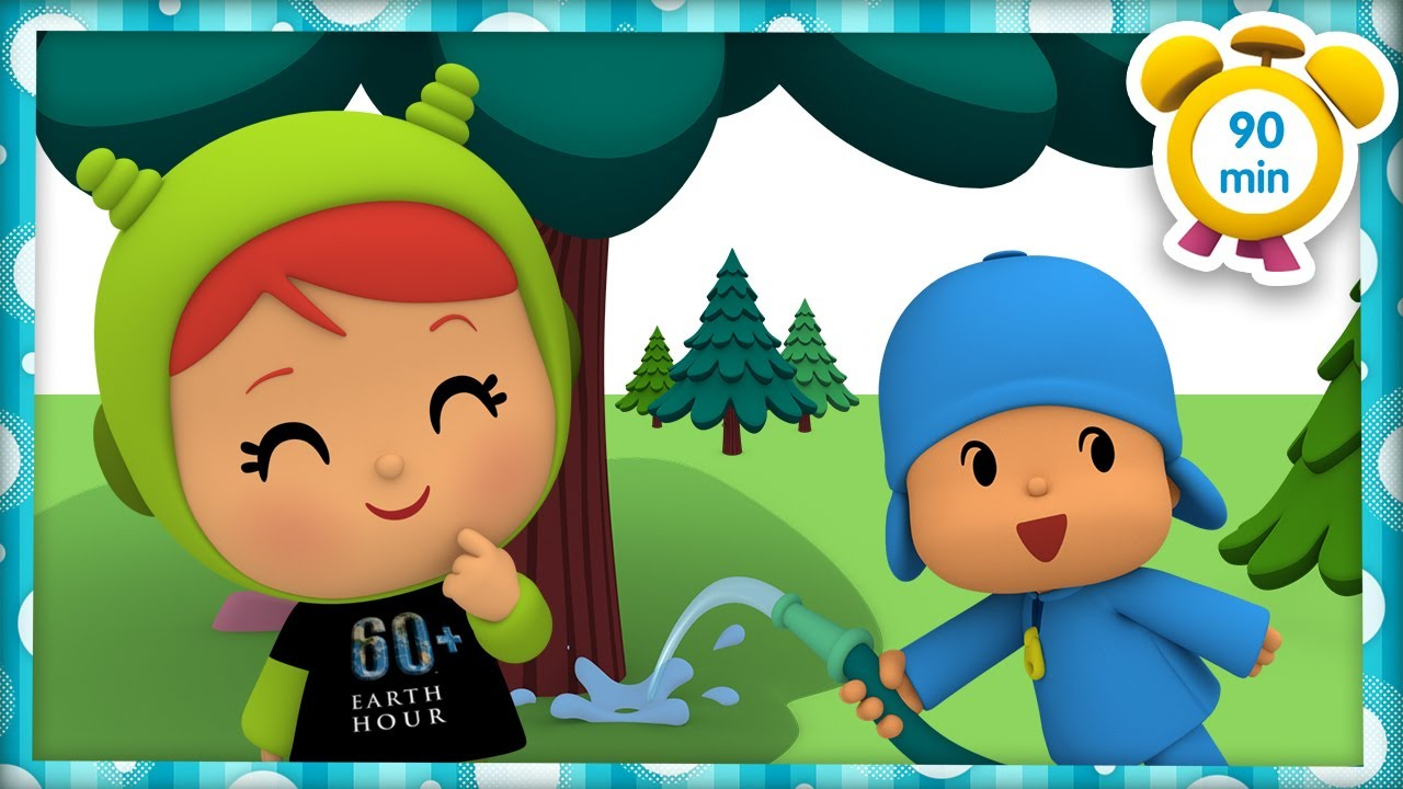🚰POCOYO in ENGLISH - EARTH HOUR: Save Water [90 min] | Full Episodes | VIDEOS & CARTOONS for KIDS