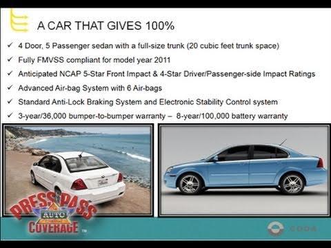 CODA Automotive Electric Sedan Webinar