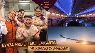 Etihad Airways EY474 Abu Dhabi - Jakarta, Friendly Crew + Mukbang All Meal!