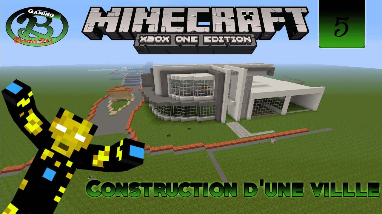 Minecraft xbox one fr construction d 39 une ville ps 5 la for Tuto maison moderne minecraft xbox 360