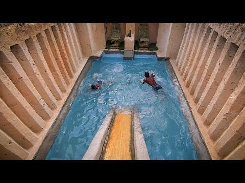 I Build Underground Tunnel Water Slide Park Into Swimming Pool house