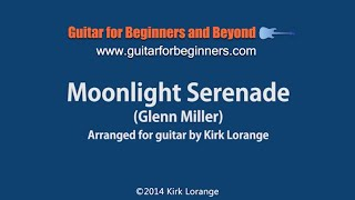 Moonlight Serenade -- fingerstyle guitar lesson