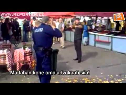 Estonian Guy VS Finland Police
