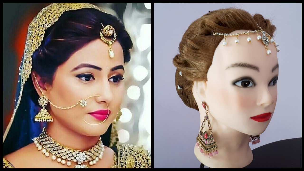 bridal updo || elegant jura hairdo || bridal bun hairstyle