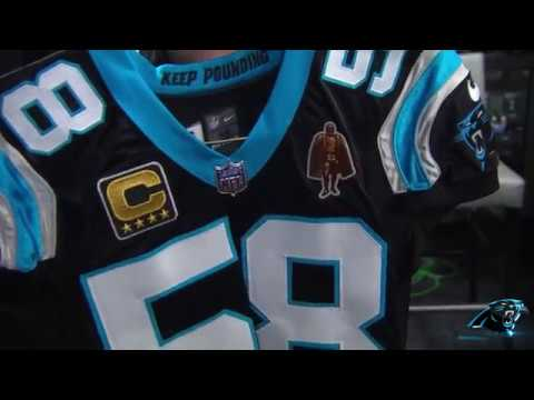 Thomas Davis will wear the Walter Payton Man of the Year Patch