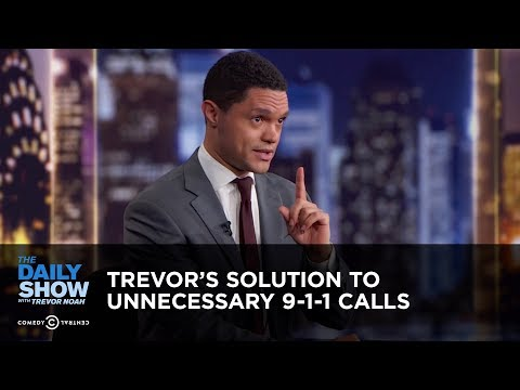 Trevor's Solution to Unnecessary 9-1-1 Calls - Between the Scenes | The Daily Show