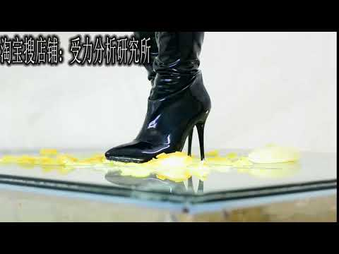 Chinese girl wear cosplay boots crush food shiraki meiko