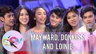 "GGV: MayWard, DonKiss, and LoiNie play ""Kuryentanong"""
