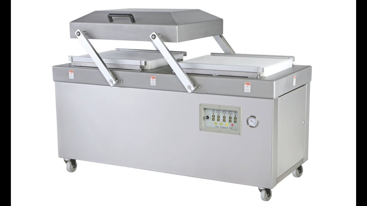 Vacuum Packing Machine For Food Hardware Packaging Double Chambers Heavy Duty Pack