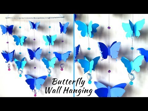 DIY Paper Butterfly Wall Hanging   Butterfly Wall Decor For Room Decoration   DIY paper wall hanging