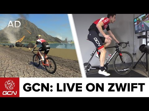 GCN Vs. Zwift - Live! Si Richardson Takes On The Watopia Volcano And You