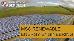 University of Aberdeen - MSc Renewable Energy Engineering