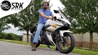 Is the Yamaha R3 big enough for a man(plus 0-60 run)