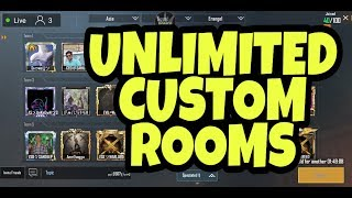 ||PUBG|| UNLIMITED CUSTOM ROOMS |JOIN FOR US FUN|