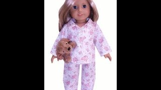 American Girl Doll Clothes Patterns Winter Pyjamas Preview