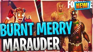 NEW Burnt Merry Marauder skin & Gingerbread Back Bling Fortnite Battle Royale v7.10 update