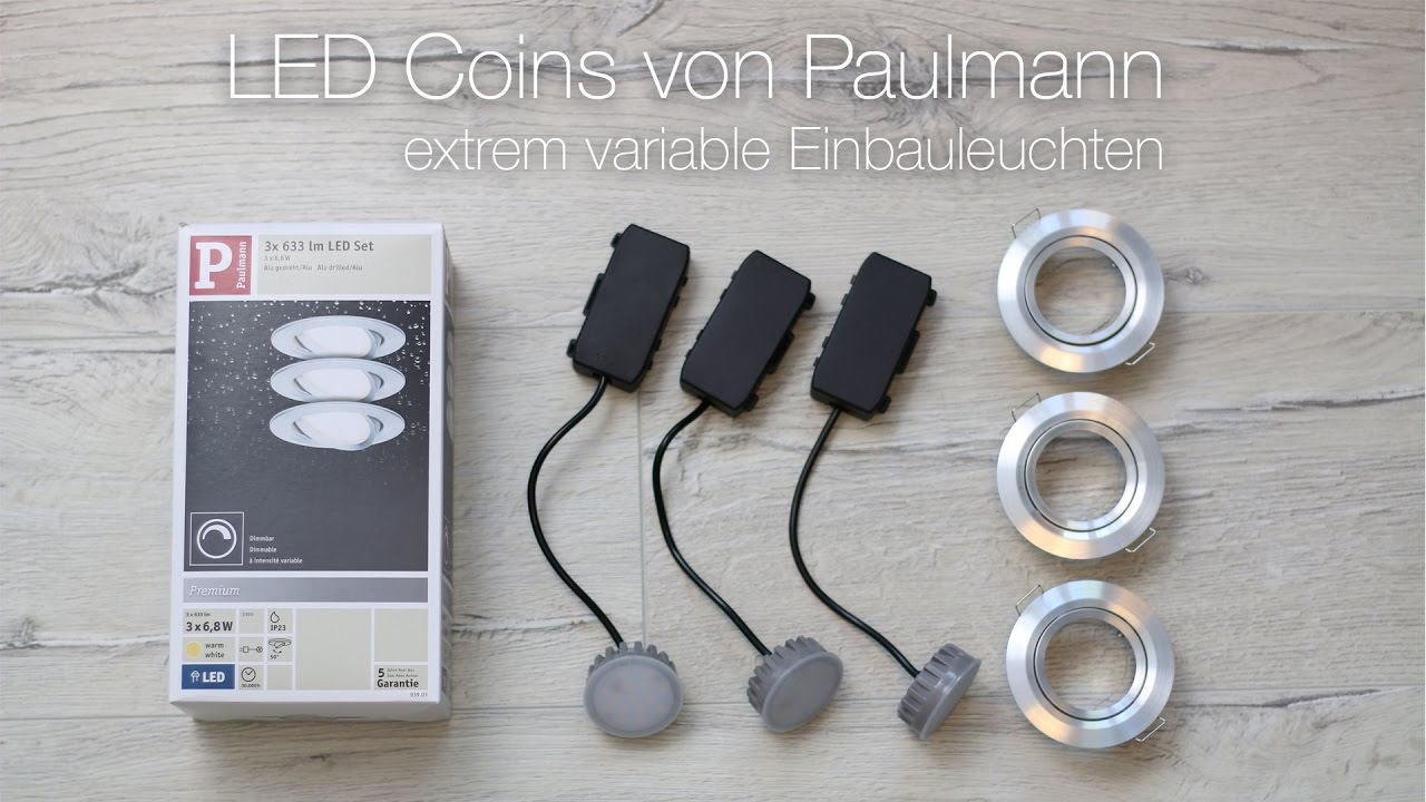 so gehts mehrere paulmann led coins miteiander verbinden youtube. Black Bedroom Furniture Sets. Home Design Ideas