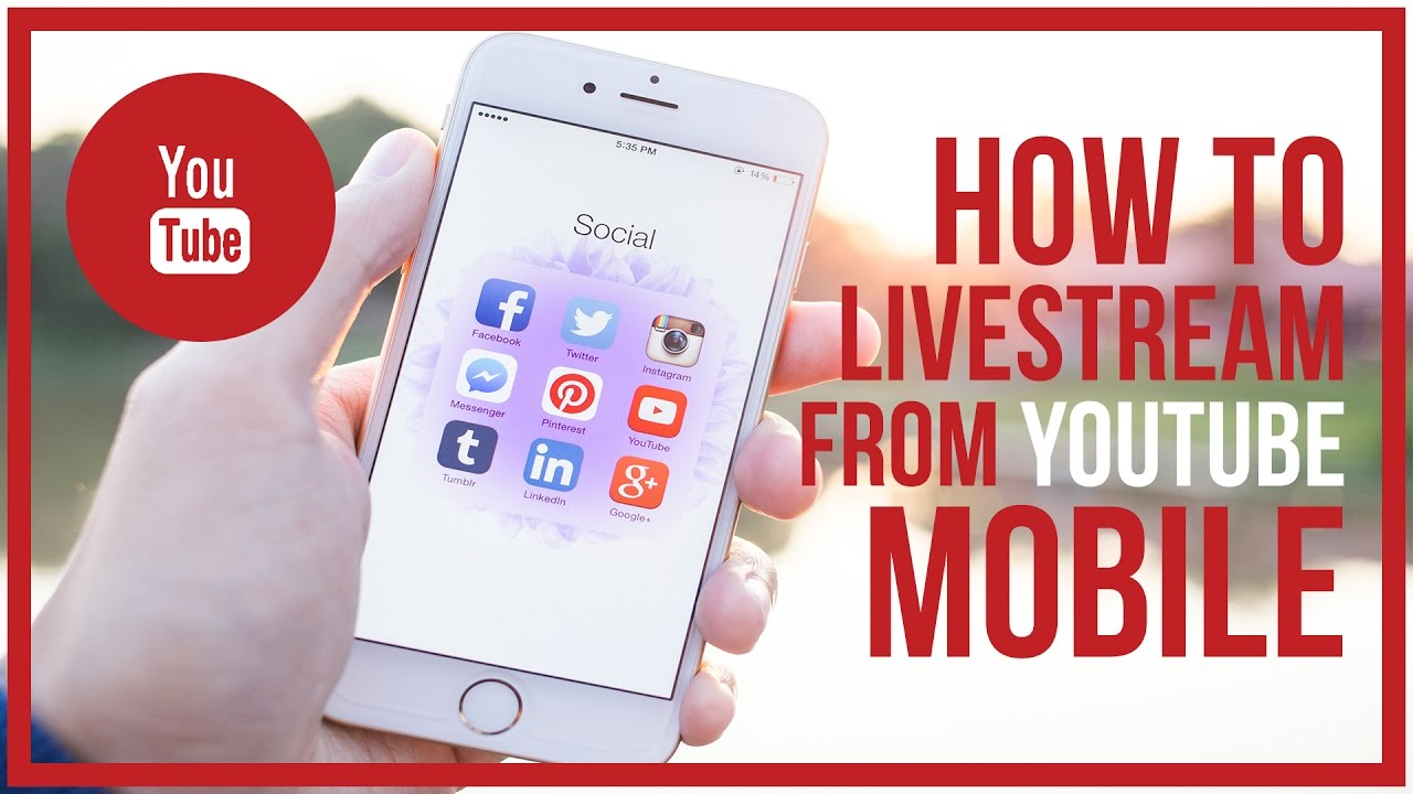 How To Live Stream On Youtube Mobile Start To Finish Youtube